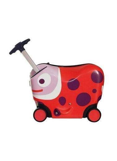 Oops Oops Çocuk Bavulu Uğur Böceği Kırmızı Kırmızı